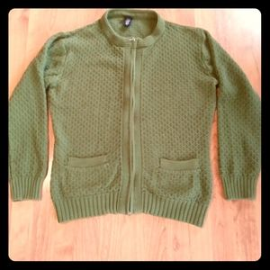 Basic Editions Dark Green/Forest Green Sweater